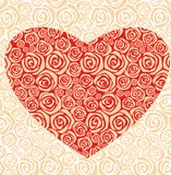 Decorative  rose heart Stock Image