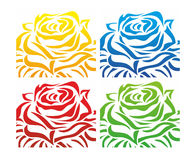 A decorative rose Royalty Free Stock Image