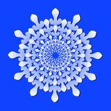 Decorative rosette in paper cut style Royalty Free Stock Image