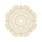 Decorative rosette-snowflake Royalty Free Stock Photography