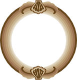 Decorative round frame Stock Photos