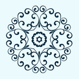 Decorative round frame. Abstract floral ornament. Royalty Free Stock Photography
