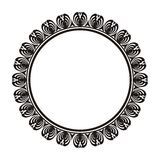Decorative round frame with ornament Stock Image