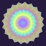 Round Iridescent Geometric Background Stock Photography