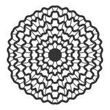 Decorative round ornament. Lace. Silhouette of snowflake  on background Stock Photos