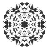 Decorative round ornament. Lace. Silhouette of snowflake isolated on background Royalty Free Stock Photography