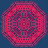 Decorative round pattern frame. Oriental rug / napkin. Royalty Free Stock Photos