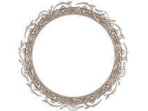 A decorative round picture frame isolated Stock Image