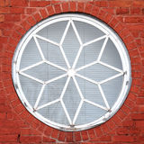 Decorative round window Royalty Free Stock Photo
