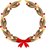 Decorative round wreath Stock Photo