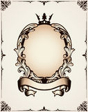Decorative royal frame. Decorative frame for design and use in design Royalty Free Stock Photography