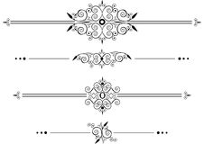 Decorative Rule lines. In intricate designs Royalty Free Stock Image