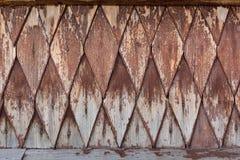 Decorative rustic rhombus tile. Decorative rustic rhombus tiles - wooden texture Stock Photos