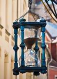 Decorative sand clock in old Riga city, Latvia Royalty Free Stock Image