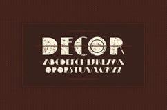 Decorative sans serif font in art deco style Stock Photo