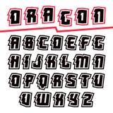 Decorative sans serif font Royalty Free Stock Images