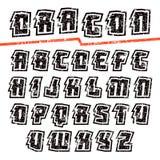 Decorative sans serif font Royalty Free Stock Photo