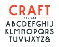 Decorative sanserif bulk font with rounded corners Stock Photo