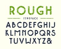 Decorative sanserif bulk font with rounded corners. Letters with rough texture Royalty Free Stock Images