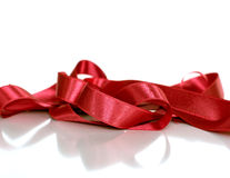 Decorative satin ribbon. Celebrations, birthday and wedding concept Stock Image