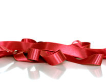 Decorative satin ribbon. Celebrations, birthday and wedding concept Royalty Free Stock Photography