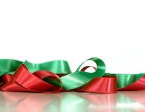 Decorative satin ribbons stock image
