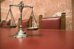 Decorative Scales of Justice Royalty Free Stock Photography
