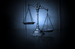 Decorative Scales of Justice Royalty Free Stock Images