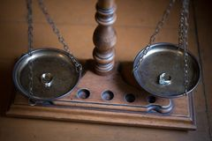 Decorative Scales of Justice Stock Image