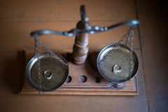 Decorative Scales of Justice Royalty Free Stock Image