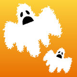 Decorative scary ghosts. Hand drawn decorative scary ghosts for Halloween Stock Image