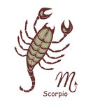 Decorative scorpio Stock Images