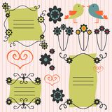 Decorative scrapbook elements Stock Image