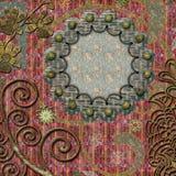 Decorative scrapbook frame background Stock Images