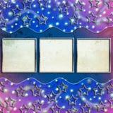 Decorative scrapbook frame Stock Images