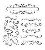 Decorative scroll ornaments. And text panel for design Royalty Free Stock Photos