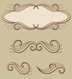 Decorative scroll ornaments and panel Royalty Free Stock Photos