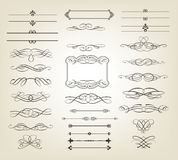 Decorative scrolls and banners. Editable vector illustrations of decorative scrolls and banners Royalty Free Stock Images