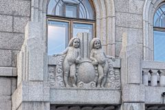 Decorative sculptural elements on the facade Royalty Free Stock Photo
