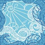 Decorative sea landscape Stock Images