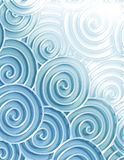 Decorative  sea swirls. Sea colored swirls  - can be used as a background or frame Royalty Free Stock Image