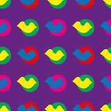 Decorative seamless background in style pop art. Print. Cloth design, wallpaper. Decorative seamless background in style pop art. Cloth design, wallpaper Stock Photo