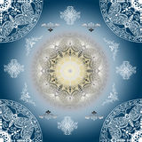 Decorative seamless blue pattern Stock Photos