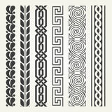 Decorative seamless border Royalty Free Stock Images