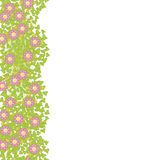 Decorative seamless element with pink flowers Stock Photo