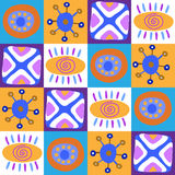 Decorative seamless ethnic African ornament Stock Images