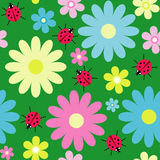 Decorative seamless floral background Stock Images