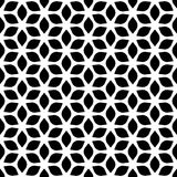 Decorative Seamless Floral Geometric Black & White Pattern Background Stock Illustration