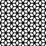 Decorative Seamless Floral Geometric Black & White Pattern Background Royalty Free Stock Images