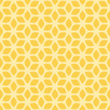 Decorative Seamless Floral Geometric Yellow Pattern Background.  Royalty Free Stock Image